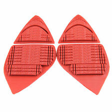 SOFTEP - one pair DIY adhesive anti slip Red rubber outsole pads for high heels