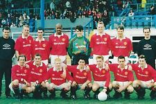 MAN UTD RESERVES FOOTBALL TEAM PHOTO 1992-93 SEASON