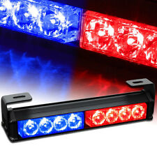 "9.5"" LED Emergency Vehicle Car Strobe Flash Lights Front Grille Truck Red Blue"
