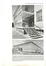 1959 Entrance and Canopy, May Baker Chemical Factory, Dagenham  : Edward D Mills