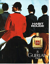 PUBLICITE ADVERTISING 104  1994  GUERLAIN  parfum homme  HABIT ROUGE