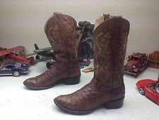 DISTRESSED DON CUCO BROWN OSTRICH LEATHER ENGINEER TRAIL BOSS COWBOY BOOTS 28D