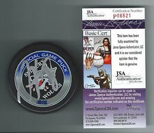 MARC STAAL SIGNED SUDBURY WOLVES GAME PUCK NEW YORK RANGERS JSA AUTHENTICATED