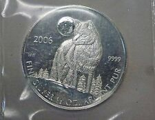 {BJStamps} 2006 CANADIAN $1 Wolf 1/2 ozt .999 Fine Silver