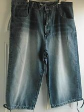 "BIG & TALL MAN'S SHORT JEANS WITH DRAW STRING HEMLINE BY ""JUST JEANS"": 42 WAIST"