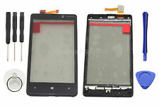 Replacement Black Touch Screen Digitizer Glass+Front Frame For Nokia Lumia 820