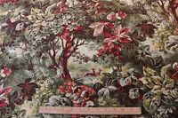 """Antique French Home Decor Printed Fabric c1870~1ydLX33""""W"""