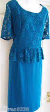 NEW~MONSOON~LARISSA TEAL LACE OCCASION DRESS 18 EVENING/WEDDING GREEN