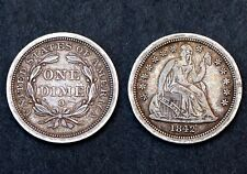 One Dime 1842 O, USA. Argent / Silver. SUP