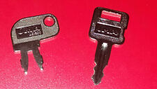 2 cat heavy equipment keys-ignition & battery keys- caterpillar igniton battery