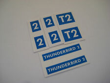 Dinky 101 - Thunderbird 2  [ blue ] Stickers -B2G1F