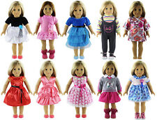 10 Set of Doll Clothes for 18'' American Girl Doll Princess dress skirt A1
