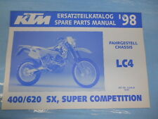 1998 KTM 400/620 SX Super Competition Chassis Spare Parts Manual 320426