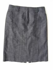 J CREW Dark Denim Blue Gray Pencil Skirt 12