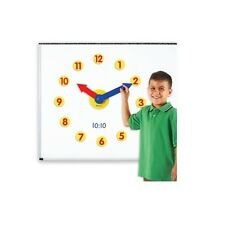 Magnetic Time Activity Set Demonstration Classroom Clock for Kids