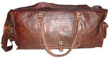 Real Leather brown handmade Men's Vintage Luggage Bag  weekend gym duffel Bag