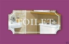 New Mirrored  door signs: Toilet bathroom shower any name Laser Engraved Acrylic