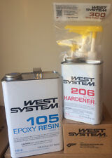 West System Epoxy Resin 105 Gal, 206 Qt Slow Hardener w/ Pumps