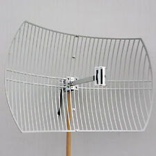 2.4GHz 802.11bgn 24dBi WiFi Parabolic Grid Antenna N Female Mounting Kits%%%%%^*