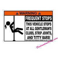 2 x Glossy Vinyl Stickers - Warning Joke Car Bike Van Bumper Window #0019