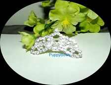 Puppy Bows ~ Rhinestone Dog Bow Tiara Barrette NEW STYLE 16
