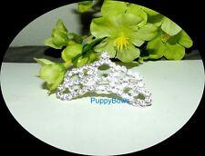 Puppy Bows ~ Rhinestone Dog Bow Tiara Barrette NEW STYLE 16