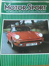 MOTOR SPORT MAGAZINE OCT 1983 VW NEW GOLF JONATHAN PALMER CANON PORSCHE 956