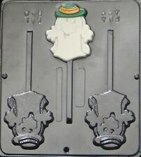 Cool Ghost w/Hat Lollipop Chocolate Candy Mold Halloween 940 NEW