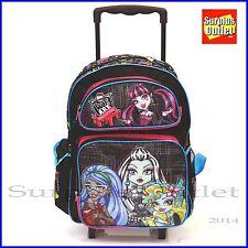 "Monster High 16"" Large Girls Rolling Backpack for School"