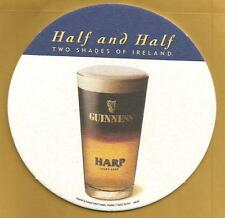 16 Half And Half 2 Shades Of Ireland  Guinness / Harp  Beer Coasters