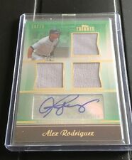 2011 TOPPS TRIBUTE ALEX RODRIGUEZ AUTO GU 3X JERSEY AUTOGRAPH 39/75 YANKEES NICE