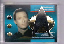 Lieutenant Commander Data Star Trek Next Gen Communicator Pin & Rank Pip Set