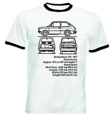 FIAT 127 INSPIRED - NEW COTTON TSHIRT - ALL SIZES IN STOCK