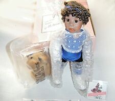 """Designer Guild Collection All Porcelain Doll 10"""" By Melissa McCrory W/arm Cast"""