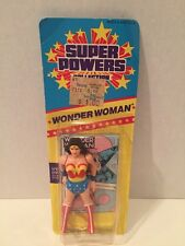 Vintage 1986 Kenner Super Powers Wonder Woman MOC Rare Canadian Slim Card