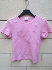 T-Shirt LACOSTE Devanlay rose coton jersey 38 pink