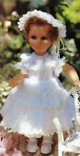 FRENCH  DOLLS LACY KNITTING PATTERN  Dress LINGERIE KNICKERS HAT