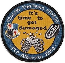Luftwaffe Aufnäher Patch TLP Albacete 2010 52nd FW Tag Team FBW 33 .......A2584K