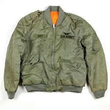 US ARMY AVIATOR KOREAN MADE MA-1 LIGHT WEIGHT FLIGHT JACKET FLYERS FLYING