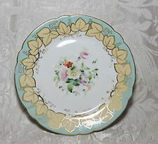 Antique dessert plate Staffordshire c1850 Antico Piatto inglese dipinto a mano