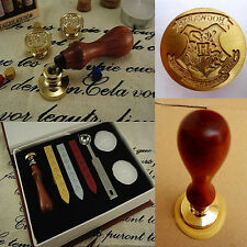Harry Potter Hogwarts School Badge Vintage Wax Seal Stamp Gift Set
