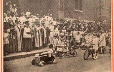TROTINETTE BICYCLETTE ST CHRISTOPHE JAVE BENEDICTION MGR CREPIN IMAGE 1933 PRINT