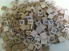 LOT 300 WOODEN SCRABBLE TILES RANDOM LETTERS