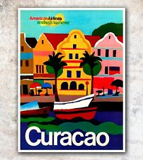 "Curacao Art Travel Poster Wall Decor Print 12x16"" A499"