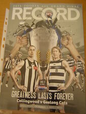 2011 AFL FOOTBALL RECORD GRAND FINAL GEELONG MAGPIES