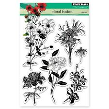 PENNY BLACK RUBBER STAMPS CLEAR FLORAL FUSION STAMP SET
