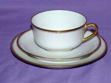 Antique Vintage Haviland Limoges Gold China PLATE Lot Set Plates Tea Cup Saucer