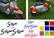 Lambretta Stickers S Type AF Sticker RB TS1 GP SX TV LI 3 x Stickers Black