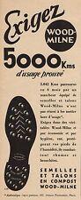 Y8690 Talons et Semelles WOOD-MILNE - Pubblicità d'epoca - 1936 Old advertising