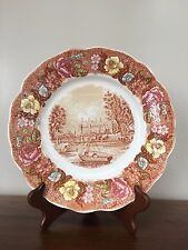 Palissy Pottery THAMES RIVER SCENES 'ETON COLLEGE' Brown Multicolor Dinner Plate